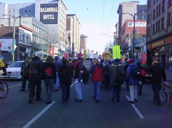 6-marching-up-to-the-vancouver-police-station
