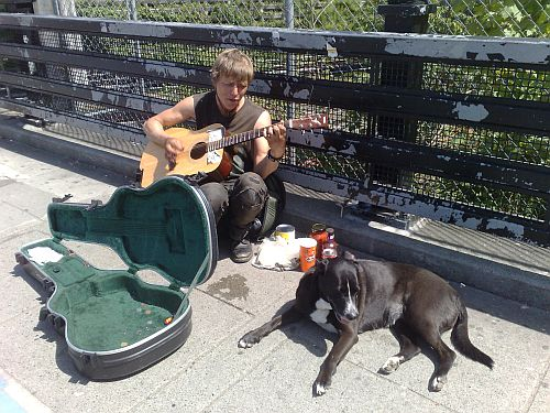 0 Blond Musician on Commercial Dr