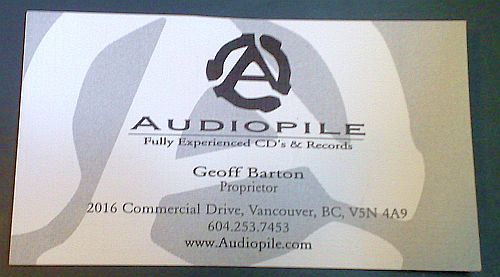Audiopile bus card
