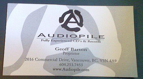 Audiopile bus card