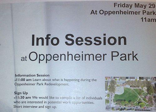 info session at op park
