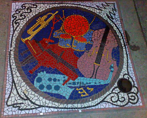 Mosaic on the corner