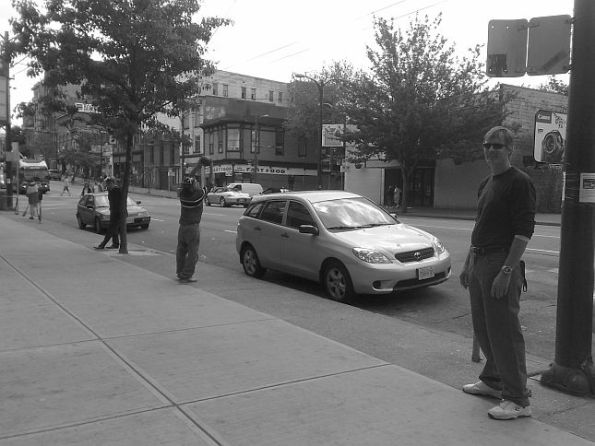 Ken playing football on the street 645