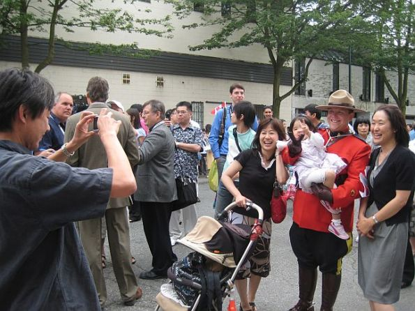 40 Japanese Royal Emperor and Empress visit Japanese Language School in Vancouver Downtown Eastside July 12, 2009 1