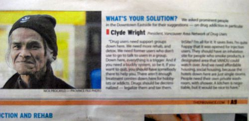 Clyde in newspaper