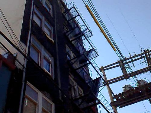Electrocution at Arco Hotel on fire escape in Vancouver DTES
