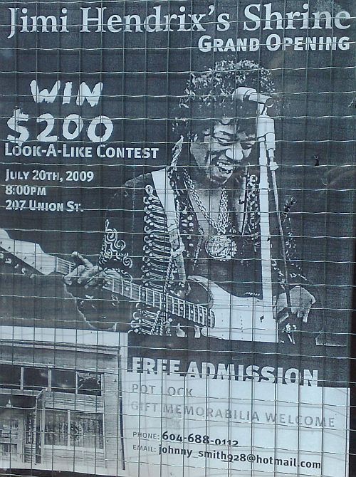 Jimi Hendrix Look a like contest in Vancouver