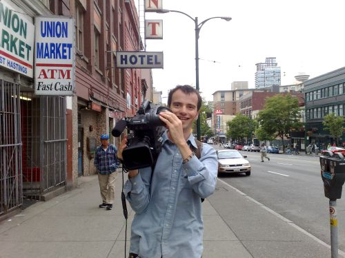 Jon Ornoy filming April Smith