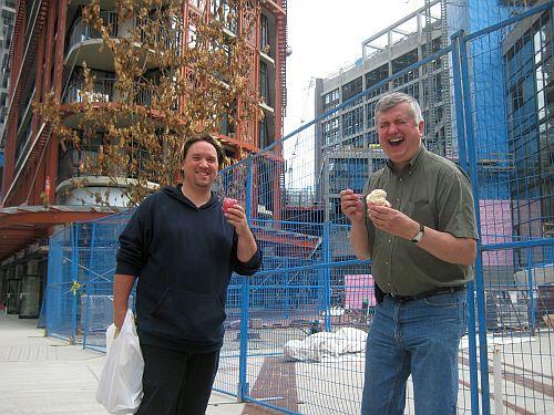 AHA MEDIA enjoying gelato at Cambie and Cordova