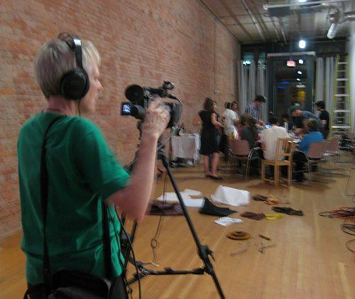Mo filming Design Nerds