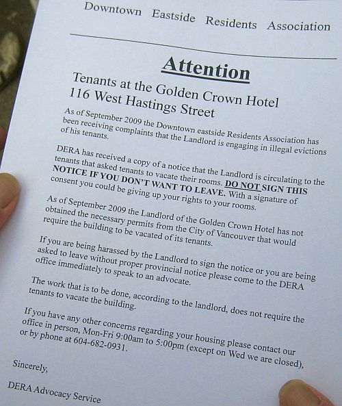 1 Press Conference on Golden Crown SRO Hotel Illegal Tenant Evictions 1