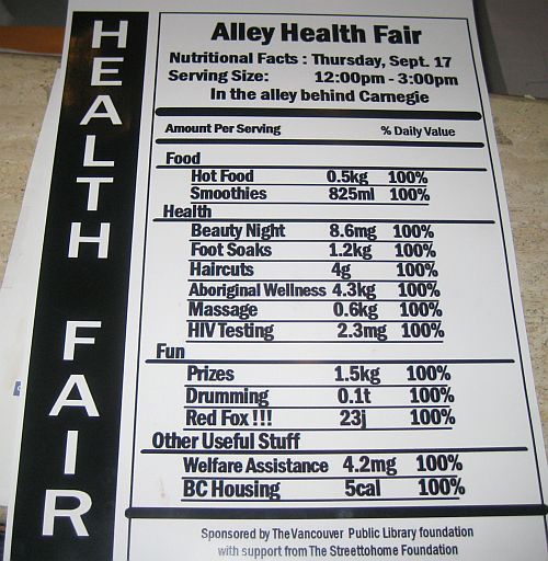 Alley Health Fair