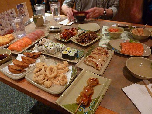 Sushi celebration dinner