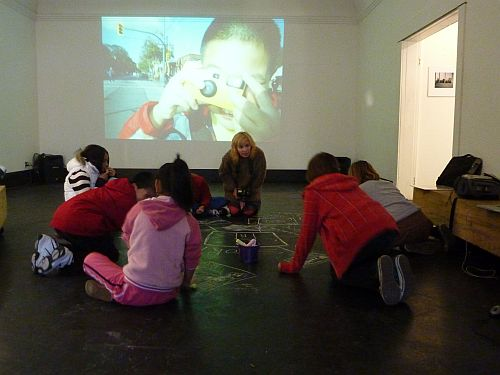 Anne Marie Slater and students