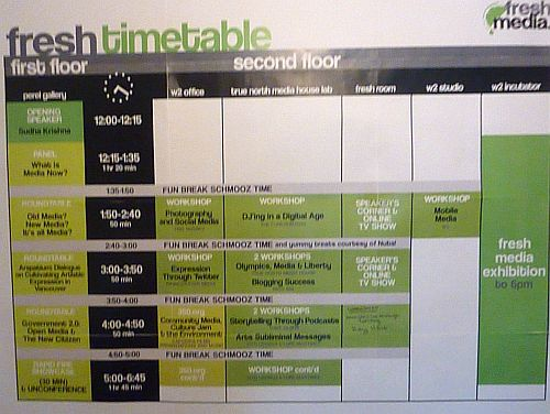 Fresh Media Time Table