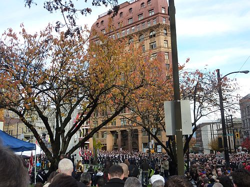 Remembrance Day at Victory Square 10