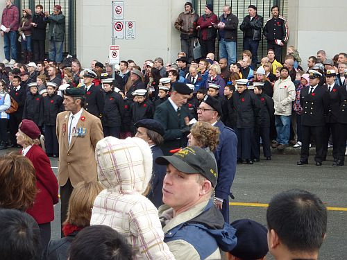 Remembrance Day at Victory Square 12