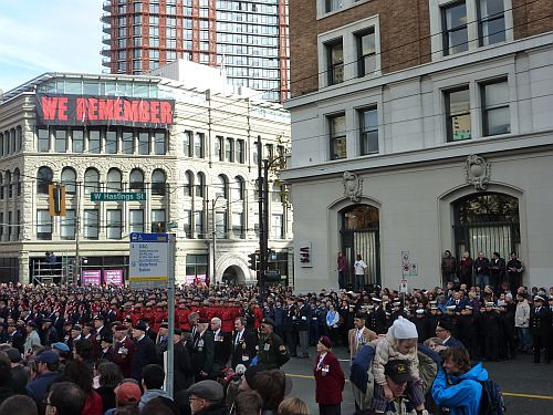 Remembrance Day at Victory Square 5