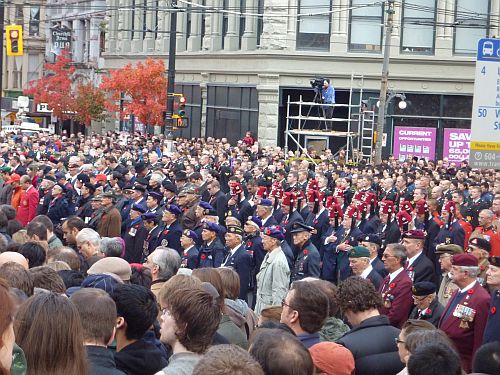 Remembrance Day at Victory Square 7