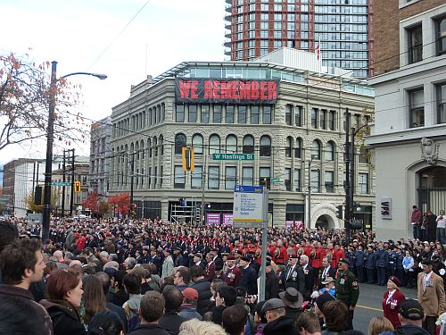 Remembrance Day at Victory Square 8