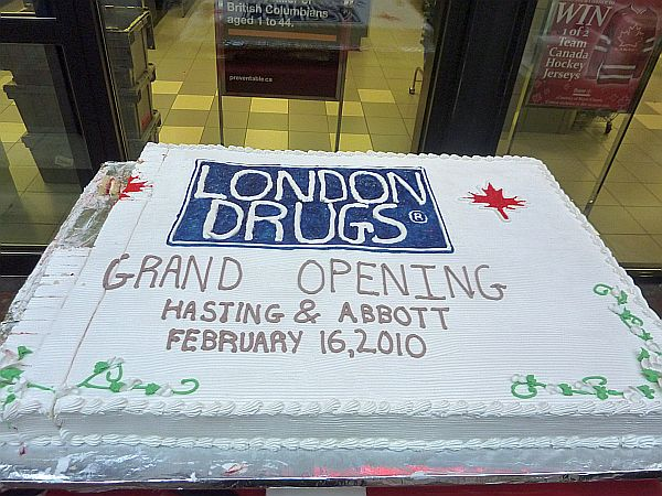 Aha media is very happy to attend the london drugs grand opening at london drugs grand opening cake baked by nesters market reheart Image collections