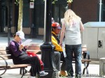 31 AHA MEDIA films HIV testing day at Victory Square in Vancouver DTES
