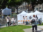 40 AHA MEDIA films HIV testing day at Victory Square in VancouverDTES
