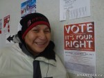 28 AHA MEDIA films DTES residents voting on Nov 19 2011 in Vancouver
