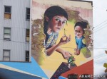 397 AHA MEDIA films W2 Soul Garden Mural in Vancouver Downtown Eastside (DTES)