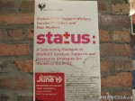 1 AHA MEDIA at PHS STATUS Campaign Dialogue in Vancouver Downtown Eastside (DTES)