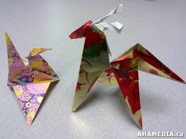 14 AHA MEDIA at Yoko Tomita's Christmas Origami workshop in Vancouver