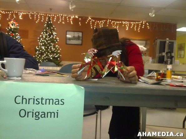 4 AHA MEDIA at Yoko Tomita's Christmas Origami workshop in Vancouver