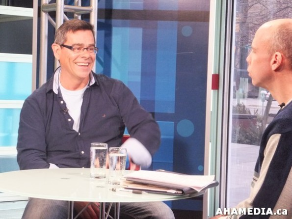15 AHA MEDIA at Scott Clark interview with Don Walchuk, ICTV program in Vancouver