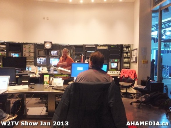 2 AHA MEDIA at W2TV Show taping Jan 20 2013 at Shaw Studios