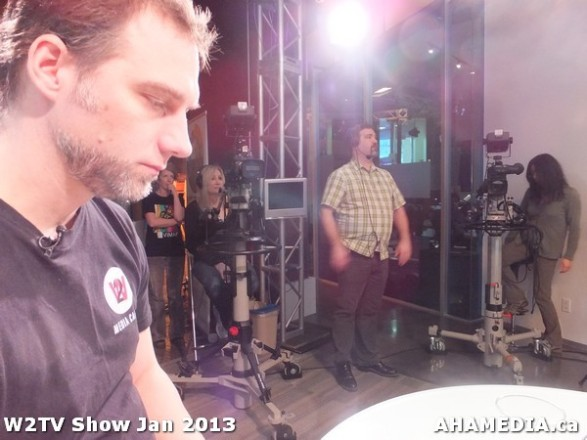 23 AHA MEDIA at W2TV Show taping Jan 20 2013 at Shaw Studios