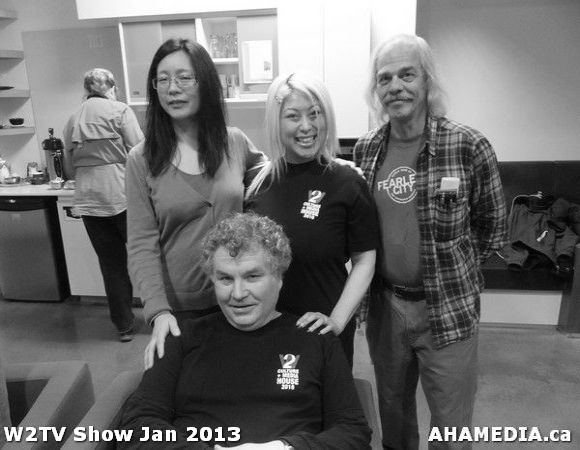 3 AHA MEDIA at W2TV Show taping Jan 20 2013 at Shaw Studios