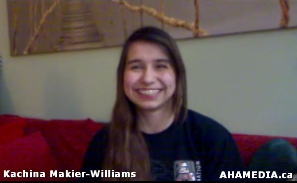 3 April of AHA MEDIA speaks with  Kachina Makier-Williams of 30 Hour Fast for Idle No More in Vancouv