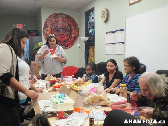 34 AHAMEDIA at Birthday Party and End of 30 Hr Fast for Idle No More