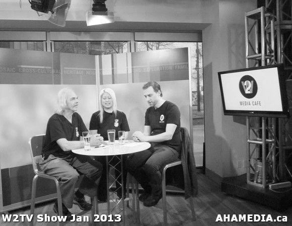 40 AHA MEDIA at W2TV Show taping Jan 20 2013 at Shaw Studios