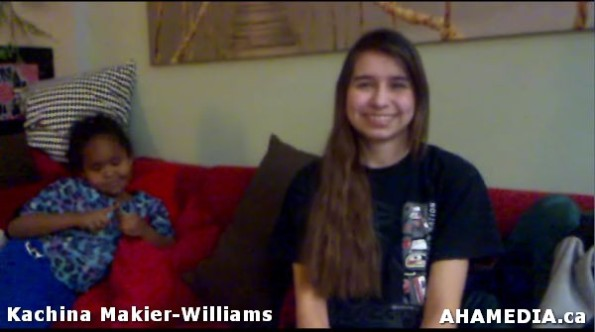 6 April of AHA MEDIA speaks with  Kachina Makier-Williams of 30 Hour Fast for Idle No More in Vancouv