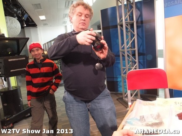 9 AHA MEDIA at W2TV Show taping Jan 20 2013 at Shaw Studios