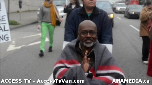 111  AHA MEDIA supports Homeless Dave Hunger Strike to City Hall in Vancouver