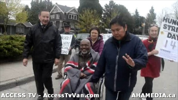 119  AHA MEDIA supports Homeless Dave Hunger Strike to City Hall in Vancouver