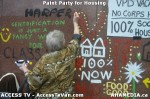 123 AHA MEDIA  and ACCESS TV films Paint Party for Housing in Vancouver