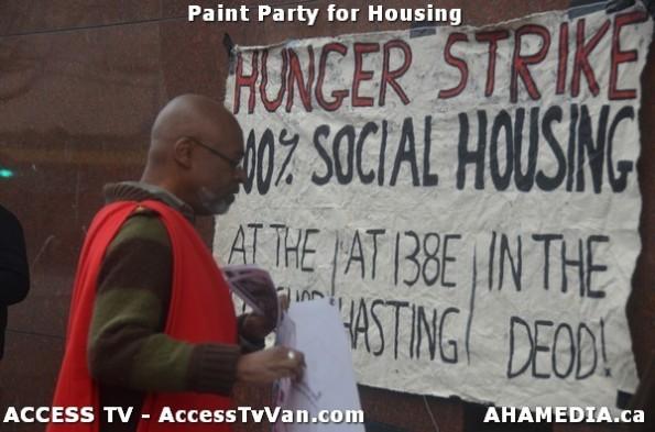 18 AHA MEDIA  and ACCESS TV films Paint Party for Housing in Vancouver