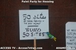 6 AHA MEDIA  and ACCESS TV films Paint Party for Housing in Vancouver