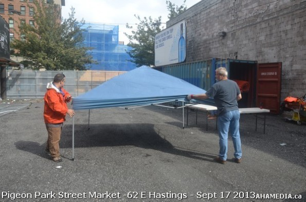 11 AHA MEDIA at Pigeon Park Street Market new location 62 E Hastings Vancouver DTES