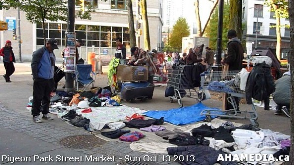 22 AHA MEDIA at Pigeon Park Street Market - Suct 13 2013 in Vancouver DTES