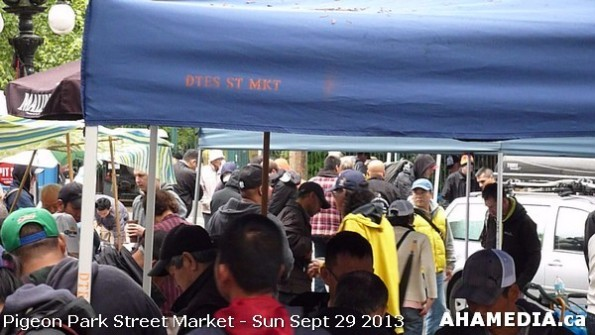 26 AHA MEDIA at Pigeon Park Street Market Sun Sept 29 2013 in Vancouver DTES