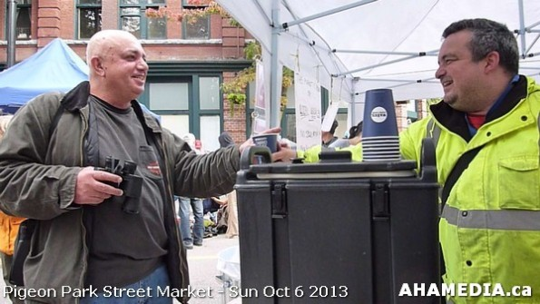270 AHA MEDIA at Pigeon Park Street Market Sun Sept 29 2013 in Vancouver DTES